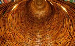 Cilinder van boeken