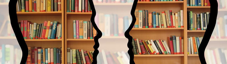 Hoofden met boeken